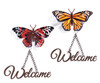 Giftcraft Butterfly Welcome Wall Sign
