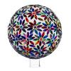 "Evergreen Multicolored Flowers Mosaic Glass Gazing Ball, 10"""