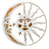 Direct International Metal White Wash Sun And Moon Face W/3 Stars Sign