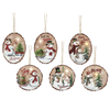 Ganz Wood Look Light Up Ornaments