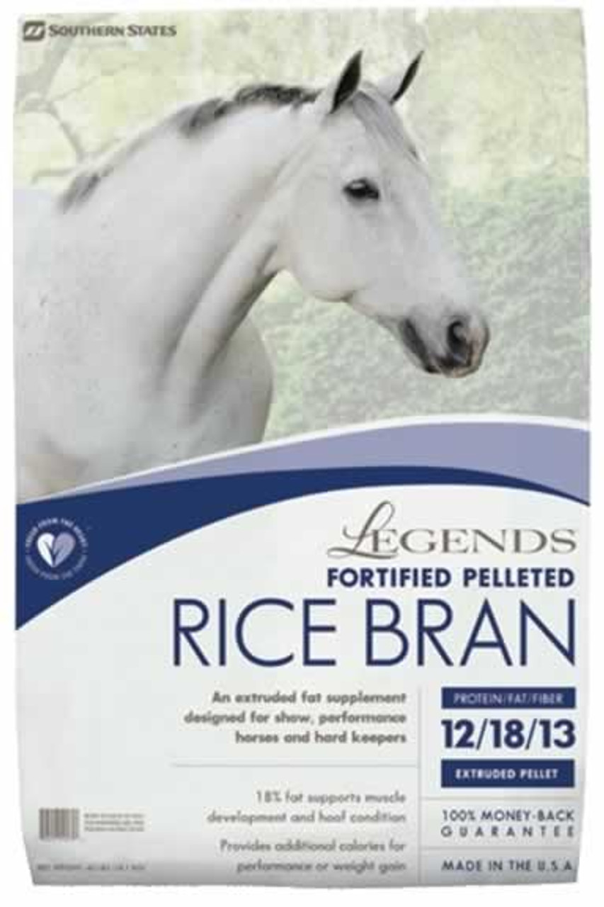 Legends Rice Bran Fortified Pelleted Horse Supplement 40 Pounds Countrymax
