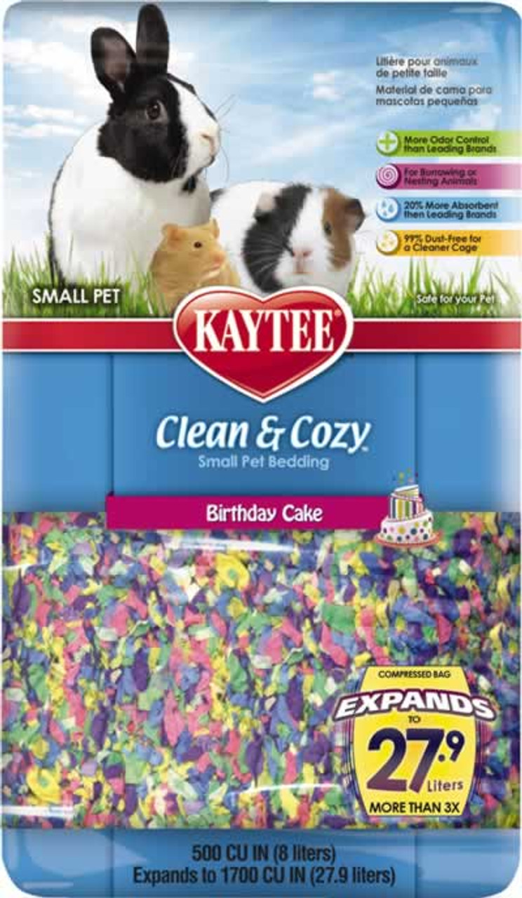 Kaytee Clean Cozy Small Animal Bedding Birthday Cake 500 Cu In