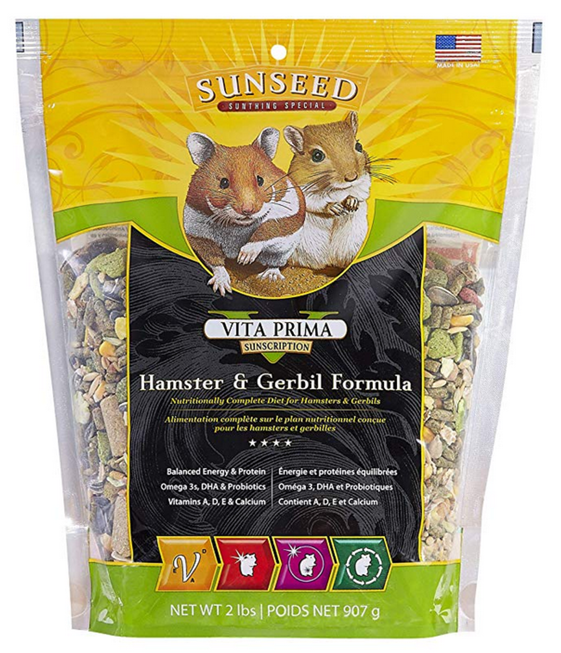 Alimentation Hamster vita prima hamster food, 2 pounds