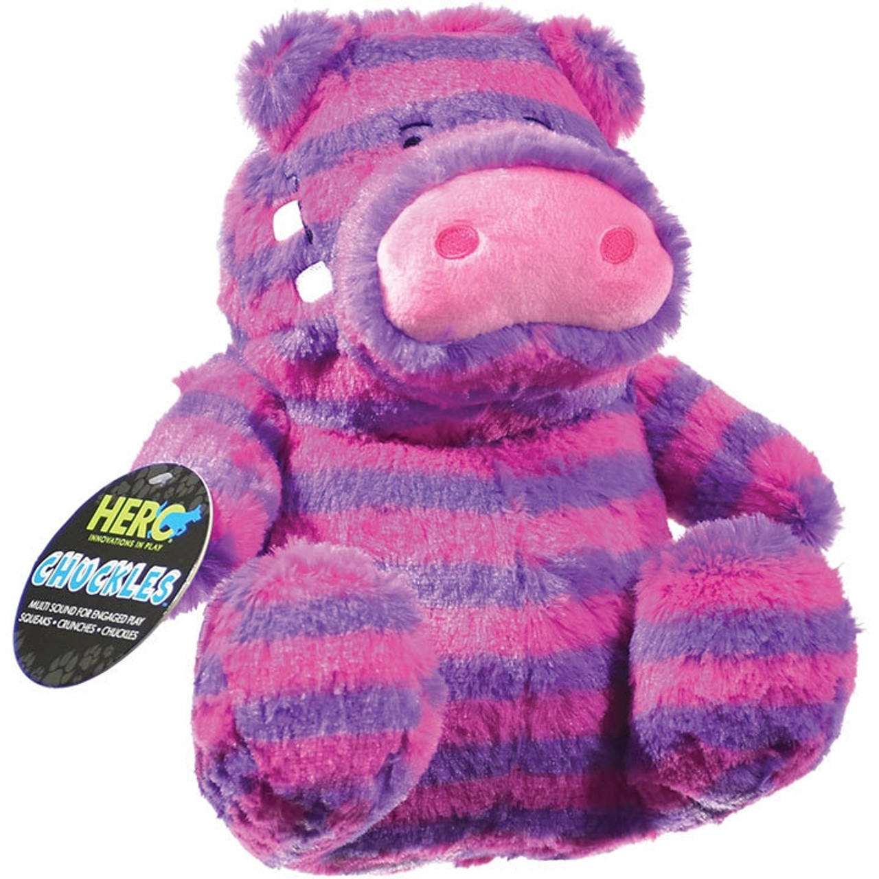 Hero Chuckles Hippo Plush Dog Toy Large Countrymax