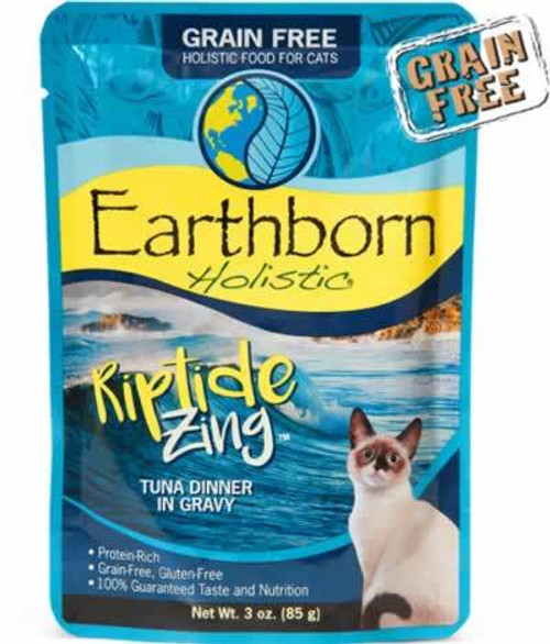 Earthborn Riptide Zing Tuna Dinner in Gravy Cat Food Pouch 3 Ounces