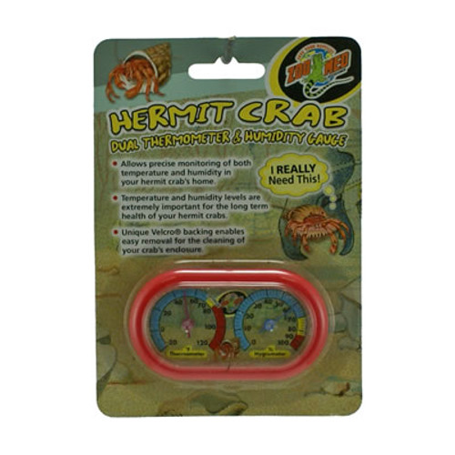 Zoo Med Hermit Crab Thermometer & Humitity Gauge