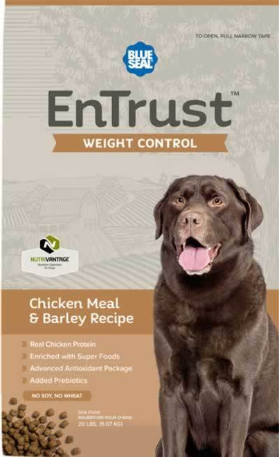 Blue Seal EnTrust Weight Control Chicken Meal & Barley Dog Food