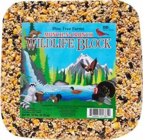Pine Tree Farms Munch-N-Crunch Wildlife Block, 15 Pound