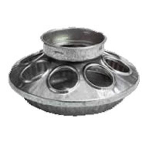 Galvanized Round Mason Jar Feeder Base