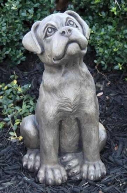 Massarelli Boxer Puppy Garden Statue