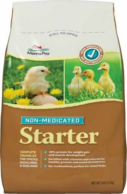 Manna Pro Non-Medicated Chick Starter Chick Feed, 5 Pounds
