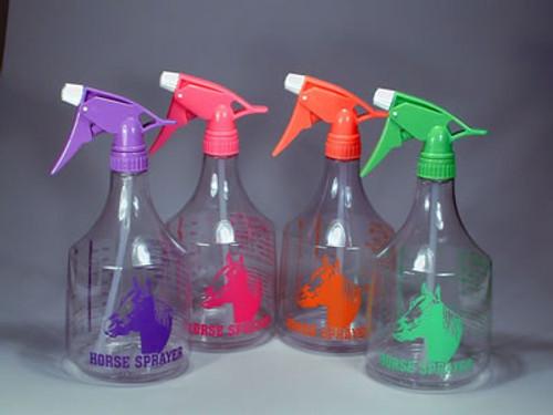 Neon Green Spray Bottle With Horse Head, 36 Ounces