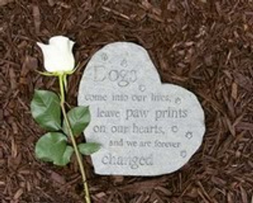 Memory Stones Paw Prints on our Hearts