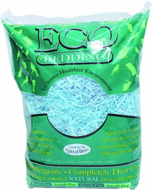 Fibercore Eco Bedding Blue Crinkles for Small Animals 1.5 Pounds