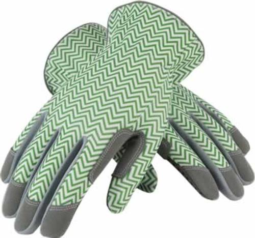 Mud Zig Zag Green & White Gardening Gloves