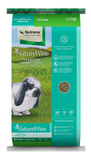 Nutrena NatureWise 15% Premium Rabbit Food 25 Pounds