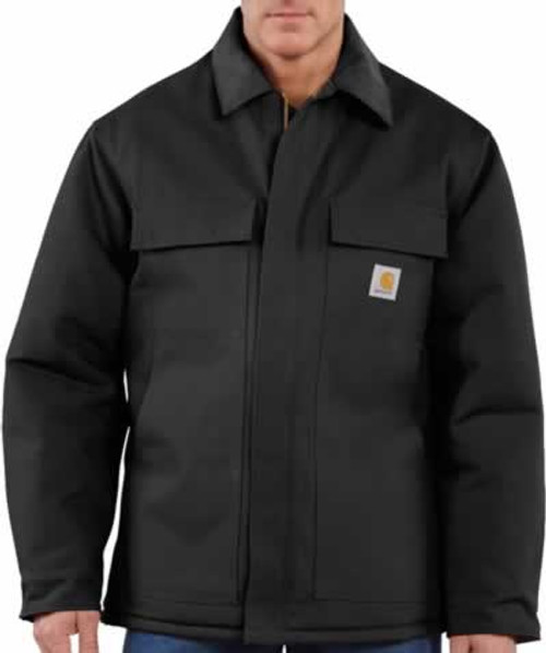 Carhartt Traditional Cotton Duck Artic Quilt-Lined Black Coat