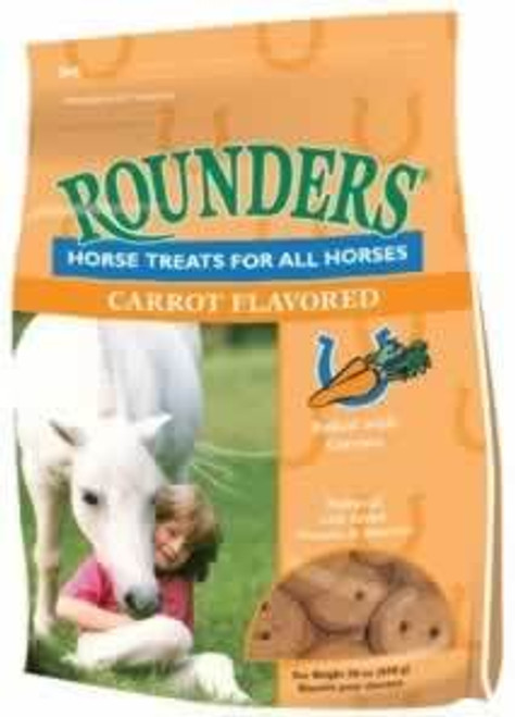 Blue Seal Carrot Rounders Horse Treats, 30 Oz.
