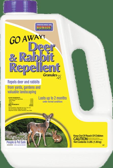 Bonide Go Away! Deer and Rabbit Repellent Granules, 3 Pound