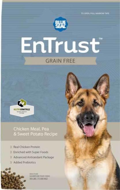 Blue Seal EnTrust Grain Free Chicken Meal, Pea & Sweet Potato
