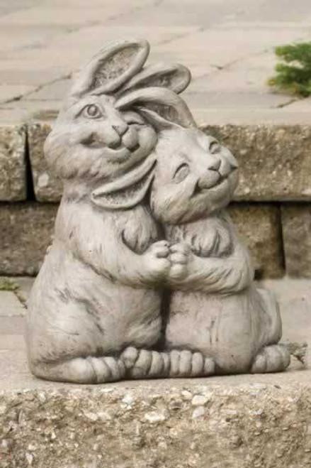 Massarelli Double Trouble Bunny Rabbits Garden Statue