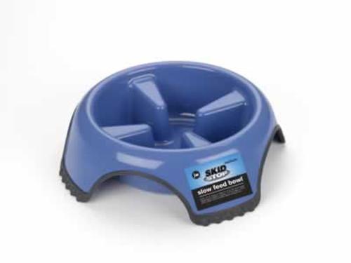 JW Pet Skid Stop Slow Feed Dog Bowl, Medium