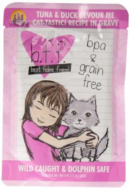 Weruva BFF Tuna & Duck Devour Me Cat Food Pouch 3 Ounces