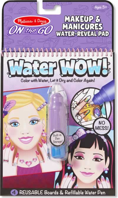 Melissa & Doug Water Wow Makeup & Manicures Coloring Pad
