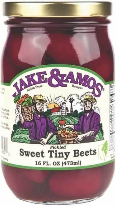 Jake and Amos Pickled Sweet Tiny Beets 16 Ounces