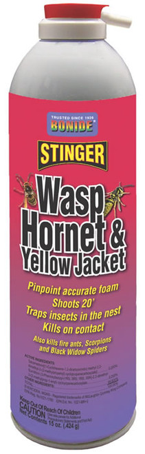 Bonide Wasp, Hornet & Yellow Jacket Foam Spray, 15 Oz.