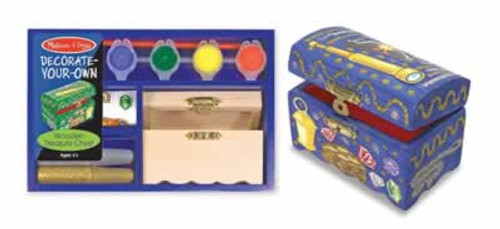 Melissa & Doug Decorate Your Own Wooden Pirate Treasure Chest