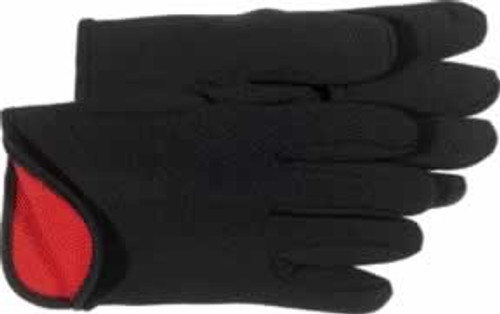 Boss Cotton Red Fleece Lined Jersey Glove, Large