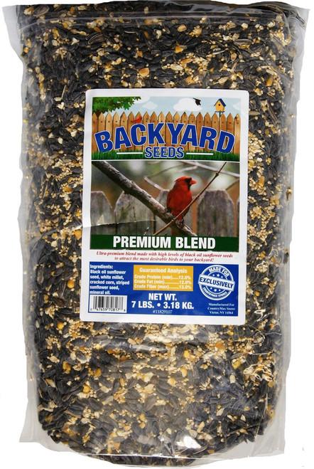 Backyard Seeds Premium Blend Bird Seed 7 Pounds