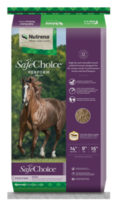Nutrena SafeChoice Perform Pelleted Horse Feed, 50 Lbs.