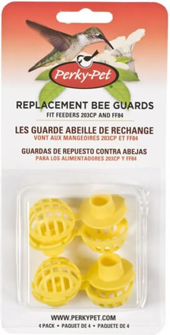 Perky-Pet Yellow Bee Guards, 4 Pack