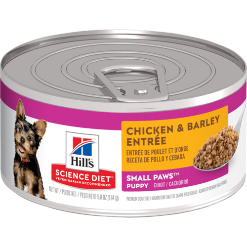 Hill's Science Diet Puppy Small Paws Chicken & Barley Entree Canned Dog Food, 5.8 Oz.