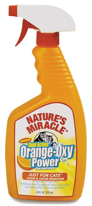 Natures Miracle Orange Oxy Cat Stain and Odor Remover, 24 Oz.