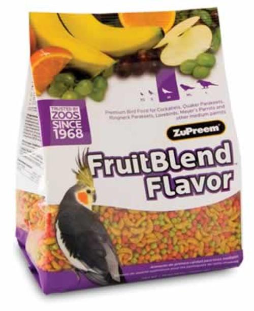 Zupreem FruitBlend Medium Size Bird Food, 2 Pound