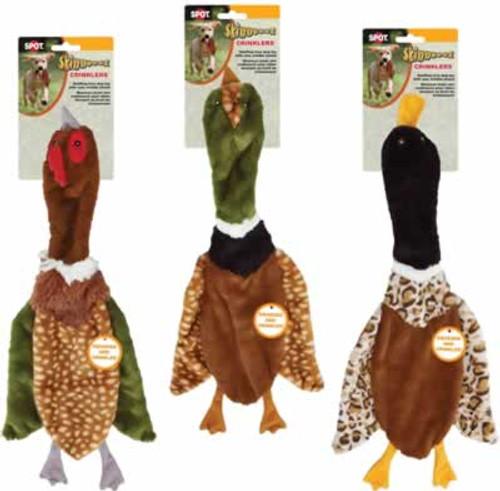 "Skinneeez Crinklers Bird Stuffing Free Dog Toy 23"""