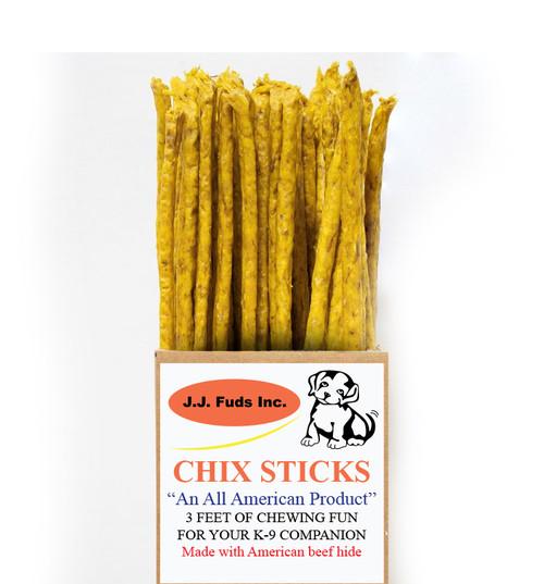 "JJ Fuds All Natural Chix Sticks 36"" Jerky Stick Dog Treat"
