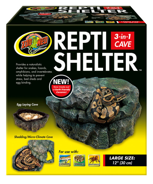 Zoo Med Large Repti ShelterTM 3 in 1 Cave