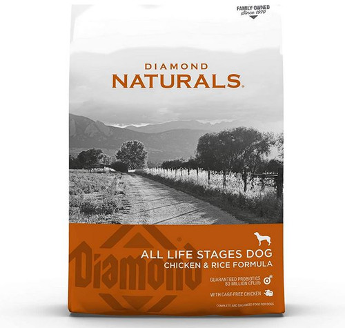 Diamond Naturals Chicken & Rice Adult Dog Food, 40 Pounds