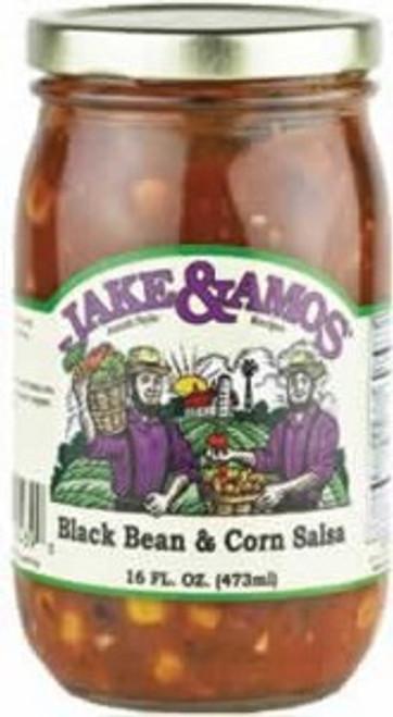 Jake and Amos Black Bean and Corn Salsa 16 Ounces