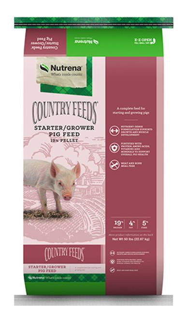 Nutrena Country Feeds Starter Grower Pelleted Pig Feed, 50 Lbs.