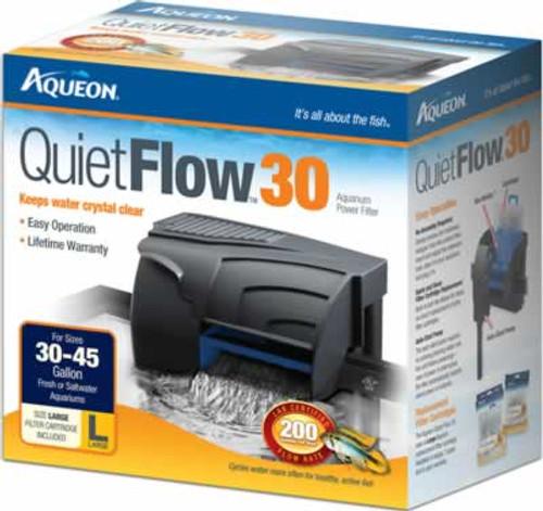 Aqueon QuietFlow Power Filter 30, 200 GPH
