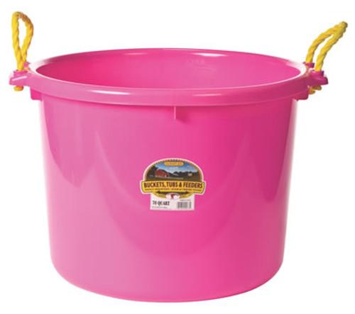Duraflex 70 Quart, Hot Pink Muck Bucket