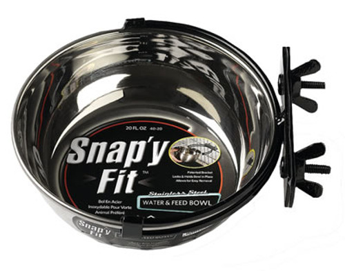Snap'y Fit Dog Bowl, 20 Ounce