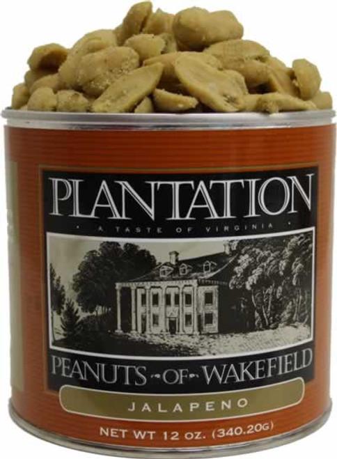 Plantation Peanuts of WakeField Jalapeno Peanuts 12 Ounces