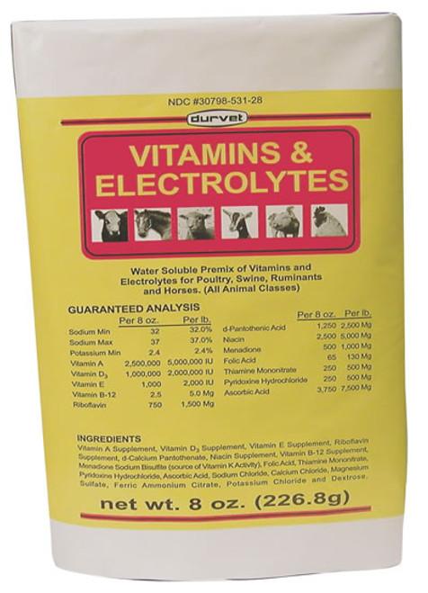 Durvet Vitamins & Electrolytes 8 Ounce