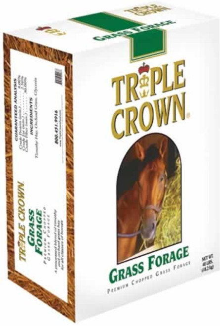 Triple Crown Grass Forage Horse Feed 40 Pounds